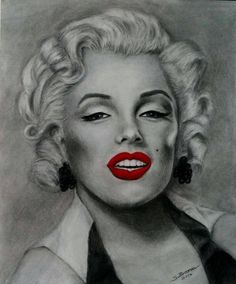 Marilyn Monroe (completed) by brosnaccreativearts  / This image first pinned to Marilyn Monroe art board here: https://www.pinterest.com/fairbanksgrafix/marilyn-monroe-art/ #Art #MarilynMonroe