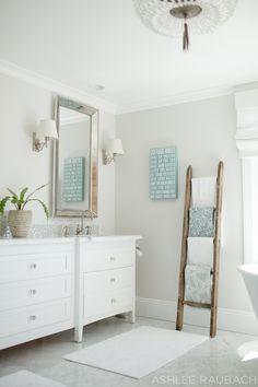 OWENS + DAVIS white marble bathroom