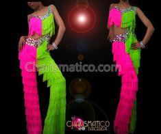 Stage Outfits, Dance Outfits, Dance Dresses, Prom Dresses, Formal Dresses, Fringe Pants, Salsa Bachata, Dance Pants, Ballroom Dress