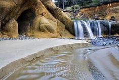Hug Point, Oregon Coast. I'm going here next time I head to the beach.