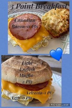 Weight Watchers Meal Plans, Weight Watchers Breakfast, Weight Watchers Smart Points, Weightwatchers Recipes, Bariatric Recipes, Low Calorie Breakfast, Breakfast Dishes, Weigth Watchers, Ww Recipes
