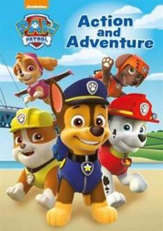 """""""Join the heroic PAW Patrol pups in three pawsome adventures! Read along as Ryder and the pups help a train pass through a rockslide fight a fire on the beach and throw a surprise birthday party for Chase! Read aloud and bring the stories to life! Los Paw Patrol, Paw Patrol Pups, Paw Patrol Books, Cloverfield 2, Manta Polar, Nickelodeon, Famous Books, Nick Jr, Read Aloud"""