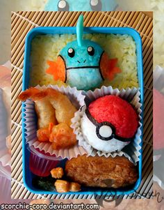 I don't know what the hell this kid is eating for lunch, but it is way cuter than the bento box I send with Jack. Plus, he doesn't know what Pokemon is, and that is a good thing.