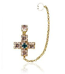 JEWELED DROP EARRING CUFF- Tory Burch