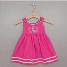 Preppy Pink Monogrammed Toddler Dress the perfect Easter Dress for baby or toddler.