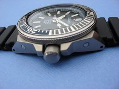 SEIKO Prospex Diver Automatic Titanium Offered for sale is the highly collectable SEIKO Prospex Samurai Diver in Titanium Blue. Seiko Samurai, Titanium Blue, 200m, Everyday Carry, Phone Covers, Watches, Citizen, Edc, Accessories