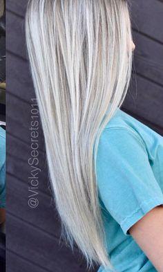 Platinum Blonde with Lowlights. Xo