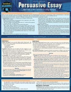 Quickstudy Persuasive Essay Laminated Study Guide Persuasive Essays Expository Essay Essay Writing
