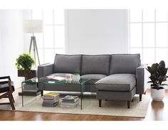 Modern sectional sofas - modular couches - Shop Structube's big selection of comfortable, modern sectional sofas today. Find the best modular couch for you, whether small, large, in leather or in fabric. Narrow Living Room, My Living Room, Living Room Decor, Studio Living, Modular Sectional Sofa, Modern Sectional, Sofa Design, Interior Design, Sectional Sofa Decor