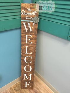 Add your name, your favorite team, your favorite shape, your family name! The sky is the limit! We will create this 4 foot personalized welcome sign for you! It's perfect for a front door, to hang in