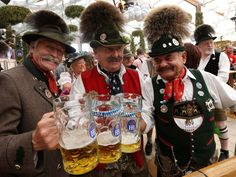 """On Saturday, the 179th Oktoberfest opened in Munich, Germany, with the traditional tapping of the first keg of beer by Munich's mayor, Christian Ude, as he shouted, """"O'zapft is!"""" (""""It's tapped!"""") http://www.oktoberfesthaus.com"""