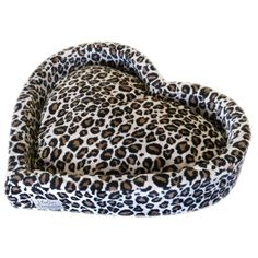 Leopard Heart Dog Bed