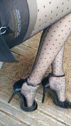 Heels pantyhose vintage Jessica pressley stockings and