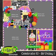 What is more special than a birthday?  How about a birthday at Walt Disney World or Disneyland?  Kelly's new mini-kit Celebrate It! - Birth...