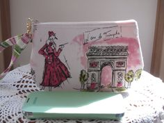 Clutch Wristlet Zipper Gadget Purse Pouch in Tres Chic Shabby Made in USA - pinned by pin4etsy.com
