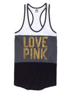 Stripe Racerback Tank - Victoria's Secret Pink®