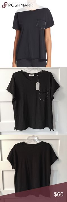 "New listing! Rag & Bone vintage stud pocket tee Rag & Bone tees are my favorite!  Super soft black cotton tee with studded pocket detail. Size large. Chest 44"". Excellent condition. rag & bone Tops Tees - Short Sleeve"