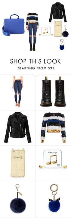 """""""Untitled #41"""" by naa215 on Polyvore featuring Vibrant, Dr. Martens, Miss Selfridge, Sonia Rykiel, Kate Spade, Happy Plugs, Helen Moore, Fendi and Marc Jacobs"""