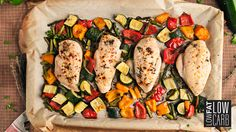 Classic, paleo Roasted Chicken & Veggie Sheet Pan is the ultimate recipe you need for your healthier lifestyle goals. Get the recipe here! Veggie Recipes, Paleo Recipes, Low Carb Recipes, Cooking Recipes, Chicken Recipes, Paleo Meals, Turkey Recipes, Free Recipes, Low Fat Low Carb