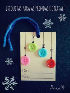 Abraços Mil: Encomendas de Natal: Etiquetas e cartões para as p...