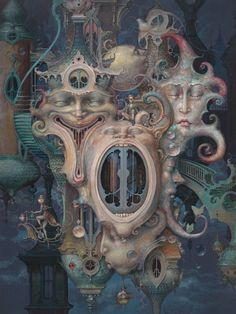 Meeting of the Minds. Paintings of Worlds of Surrealism Built on Life Experiences. By Daniel Merriam.