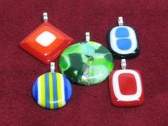 Fused Glass - Glass Pendants - Step One
