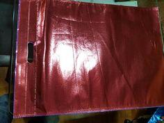 Metallic red D-cut bag