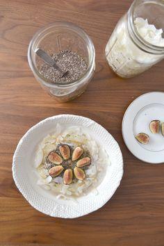 Oat & quinoa porridge with figs and coconut milk // Blanche & Thirteenth