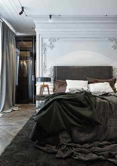 Modern French Bedroom: Glamorous Ideas That Will Stun You Master Bedroom Design, Home Decor Bedroom, Master Bedrooms, Bedroom Interiors, Bedroom Furniture, Studio Furniture, Bedroom Bed, Bedroom Inspo, Master Suite