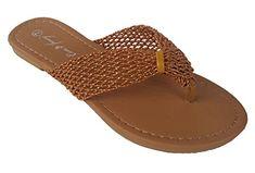 45ec18947 Elegant Womens Fashion Casual Thong Camel color Cute Flat Sandals Camel 6 M  US   See