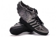 Originals Adidas Jeremy Scott Wings 2.0 Sliver Black Shoes