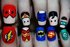Super Hero Nail Art