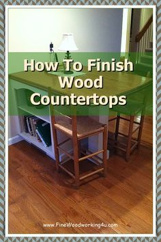 Expect to refinish wood countertops after 10-20 years depending on the amount and type of use they get. Scratch and Dent Problems. #woodencountertops #woodcountertops Fine Woodworking, Woodworking Projects, Solid Wood Countertops, 20 Years, Really Cool Stuff, Entryway Tables, Type, Design