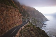 I'm craving winding roads overlooking the water. Cape Town South Africa, Travel List, Beautiful Places, Places To Visit, Adventure, Roads, World, Water, Cravings