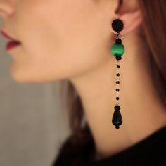 Drop earrings...simple statement...