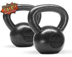 Kettlebell 2025 lbs Set Hand Weight Solid Cast Iron Training Cap Gym KJO2H3D