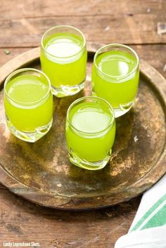 Lucky Leprechaun Shots. A tropical shot any leprechaun would love! - BoulderLocavore.com Great for St. Patrick's Day.