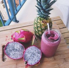 fruit | thirsty | drink | smoothies | smoothie | pineapple | healthy | fit | snack | breakfast | color | yum