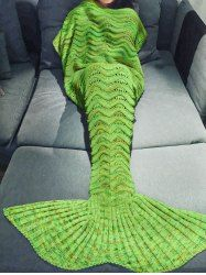Fashionable Multicolor Knitted Mermaid Tail Design Blanket For Adult (APPLE GREEN) | Sammydress.com Mobile