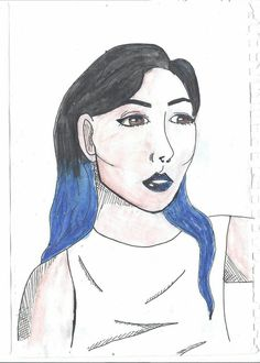 My first comic art face drawing. It's not that bad😏