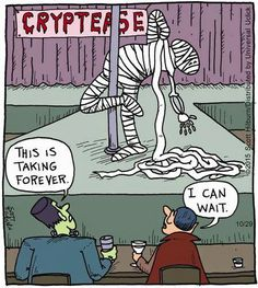 Explore funny Halloween jokes and funny webcomics of all time. Halloween time not only to dress extravagantly, but also to share funny Halloween jokes Funny Cartoons, Funny Comics, Funny Jokes, Hilarious, Halloween Cartoons, Scary Halloween, Halloween Humor, Halloween Treats, Argyle Sweater Comic