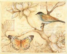 Brown bird butterfly