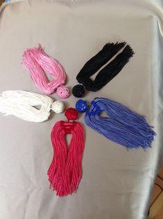 TRIPLEX tassel earrings by Monika de Silva, www.mdsdesigns.co.uk