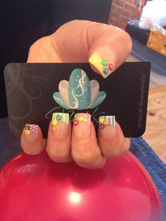 Nails art, acrylic nails, m&m nails