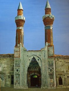 Blue Medrese, Sivas, Turkey by Richard Yeomans - the Blue Medrese is  a distinctive example of the thirteenth century Seljuk architecture of the region.