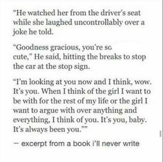 """I love everything about this. """"Excerpt from a book I'll never write."""""""