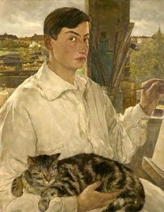 """Lotte Laserstein (German artist, 1898-1990) From a round-up of self-portraits by women painters, collected at the """"It's About Time"""" historical blog of Barbara Wells Sarudy"""