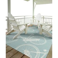 Indoor/Outdoor Beachcomber Bicycle Light Blue Rug - x x Bombay Home Decor, Indoor Outdoor Area Rugs, Beach Cottage House Plans, Beach House Decor, Beach Mansion, Beach Cottages, Light Blue Rug, Beach Cottage Decor, Beach Decor