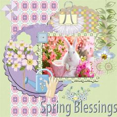 Made by my wonderful MoonPie Mitch, with my Spring Blessings Kit