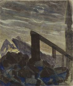 Mikalojus Konstantinas Ciurlionis THE SUN IS PASSING THE SIGN OF CANCER Tempera on paper. 1906 / 7.